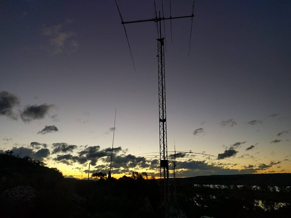 sunset on another iaru contest 2016