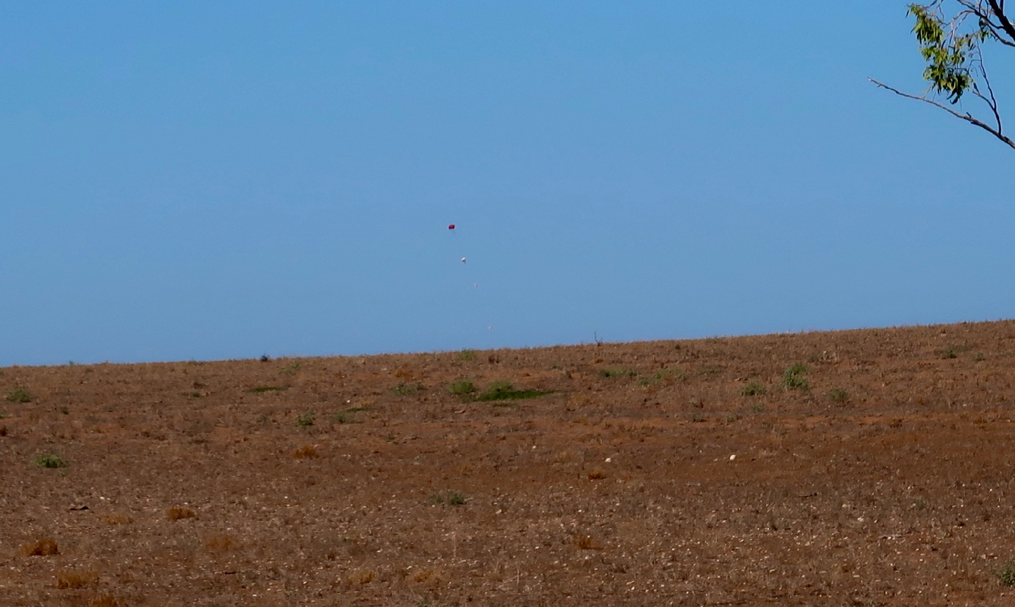 All payloads sighted just before landing.