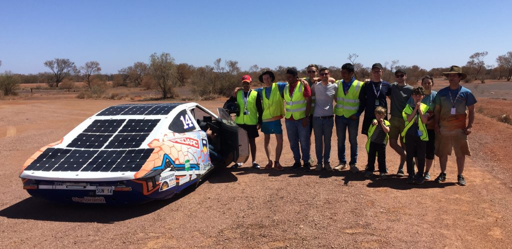 The Flinders University Automotive Solar Team, and their Solar Car