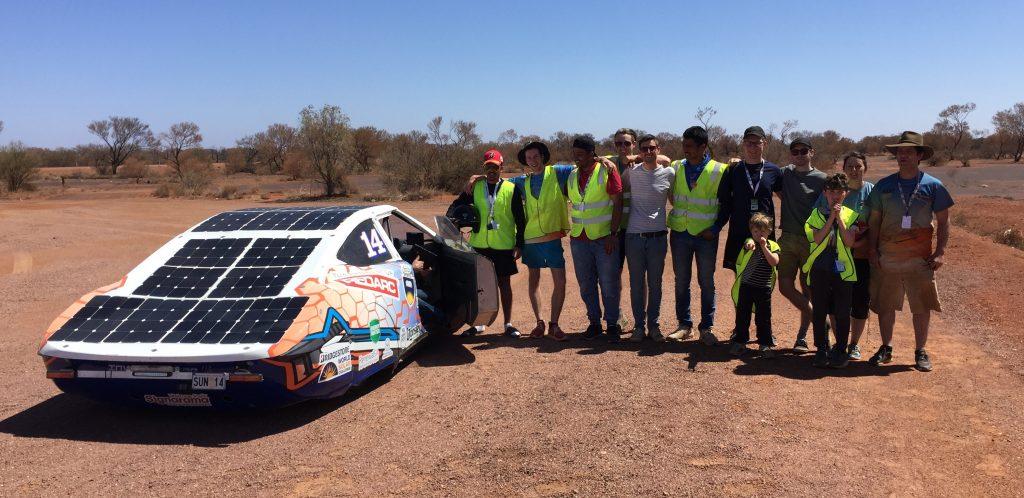 The Flinders University Automotive Solar Team, and their Solar Car